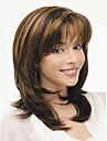Noir perruque Perruques pour femmes Droit Ondulation Naturelle Perruques de Costume Perruques de Cosplay