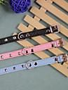 Hundar Halsband Svart / Blå / Rosa PU Läder