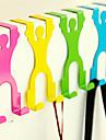 tecknad utformning overdoor hängande krok closet rack dörren tillbaka hållare (slumpvis färg) 14,5 * 6,8 * 3cm