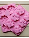 mode silikon 6 hål kattklor formar kaka bakeware mögel tvål choklad kök matlagning verktyg mat dessert making