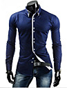 Chemises informelles ( Coton melange ) Informel Col chemise a Manches longues