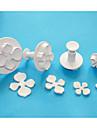 Four-C hortensia fondant kaka Utsmyckning kolv fräsar, socker konst fräsar, tårta designverktyg