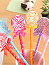 Colorful Lollipop Pen en forme de boule (couleur aleatoire)