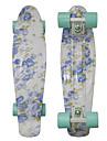 öre grafisk komplett skateboard blå blommor plast skateboard 22 tums mini cruiser med ABEC-9 lager