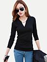 Women\'s Black/Beige T-shirt Long Sleeve