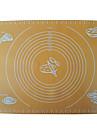 quatre c antiadhesive couleur outils pad gateau tapis de cuisson en silicone jaune im-11