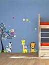 stickers muraux autocollants de mur, animaux muraux PVC autocollants
