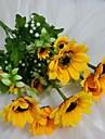 Une succursale Soie Tournesols Fleur de Table Fleurs artificielles #(14.5*5.5)