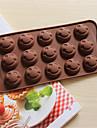 bakeware silikon leende ansikte formade bakning formar för choklad