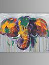 картина маслом современного абстрактного слон ручной росписью холст с протянутой кадр