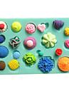 knappen fäst fondant tårta formar choklad mögel för köket baka lera mögel sugarcraft dekoration verktyg