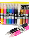 12 PCS Hole Nail Art Pen With Nail Polish