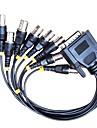 db 15-stifts hane bryta ut till 8 BNC hona kabelkontakter för CCTV-system