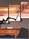e-Home® döda havet klockan i canvas 3st