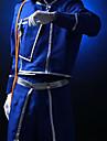 Inspire par Alchimiste d\'acier Roy Mustang Anime Costumes de cosplay Costumes Cosplay Couleur Pleine Bleu Manteau / Pantalons / Echarpe