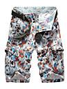 Bărbați Mărime Plus Size Drept Zvelt Pantaloni Chinos Pantaloni Scurți Pantaloni,Brodat Vintage Șic Stradă Activ Imprimeu Maskirni