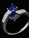 Inele Afirmatoare Zirconiu Zirconiu Cubic Piatră Preţioasă imitație de diamant La modă Albastru BijuteriiNuntă Petrecere Zilnic Casual