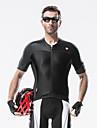SANTIC® Maillot de Cyclisme Homme Manches courtes VeloRespirable / Resistant aux ultraviolets / Bandes Reflechissantes / Diminue