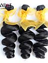 """3st lot 12-28 """"malaysiska obearbetade lös våg lockiga jungfru hårwefts naturligt svart rå remy människohår väva buntar"""