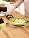 perfekt skiva pizza cutter tårta skivare pie divider dessert (slumpvis färg) 30 * 30 * 1,5 cm