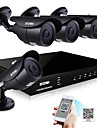 ZOSI® 8 Channel H.264 HDMI D1 DVR 4 pcs 800TVL Outdoor Night Vision 120ft CCTV Camera Security System