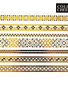 Tatueringsklistermärken - Mönster - Smyckeserier - till Dam/Girl/Vuxen/Tonåring - Guld - Papper - #(1) - styck #(23x15) -#(Chinese