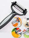 4 en 1 couteau eplucheur de legumes en acier fruits couteau trancheur cyclone inoxydable (couleur aleatoire)