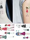 Tatueringsklistermärken - Non Toxic/Mönster/Ländrygg/Waterproof - Annat - till Barn/Dam/Girl/Herr/Vuxen/Boy/Tonåring - Multifärgad -