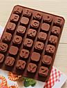 bakeware silikon engelska alfabetet formade bakning formar för choklad