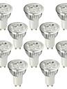 6W GU10 LED-spotlights 4 Högeffekts-LED 530-580 lm Kallvit AC 100-240 V 10 st