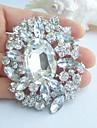 de Mireasă Diamante Artificiale Alb Bijuterii Pentru Nuntă Petrecere Ocazie specială Zi de Naștere
