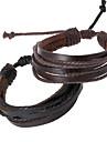 Kedja - Armband (Läder) - till Unisex
