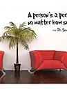 en person är en person, oavsett hur liten citat väggdekal zooyoo8077 dekorativa flyttbar vinylväggklistermärke