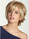 Fluffy Beautyful High Quality Capless Short Wavy Mono Top Human Hair Wigs Twelve Colors to Choose