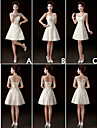 Mix & Match Dresses Short/Mini Lace 3 Styles Bridesmaid Dresses (3227629)