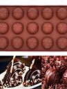 15 hål silikonform chokladmousse tårta bakformen (rund choklad) (färg slumpvis)