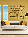 väggdekorationer väggdekaler stil ofullkomlighet är beatuy engelska ord&citerar pvc väggdekorationer
