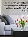 vara vem du är vad du känner offert väggdekaler zooyoo8075 dekorativa väggdekor löstagbar vinyl väggdekorationer