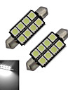 1.5W Festoon Lumini Decorative 8 SMD 5050 150-170lm lm Alb Rece DC 12 V 2 bc
