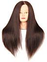 syntetiskt hår blandat djursalong kvinnlig skyltdocka huvud med smink
