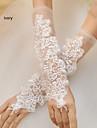 Wrist Length Fingerless Glove Net Bridal Gloves Spring / Summer / Fall
