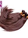"""3st / lot 12 """"-30"""" brasilianska jungfru hår chokladbrun silkeslen raka mänskliga hårförlängningar hår väver"""
