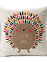färgrik ballong färgrik igelkott mönstrad bomull / linne dekorativa kuddöverdrag