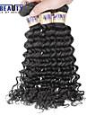 """4 st / lot 8 """"-30"""" 6a peruanska jungfru hår vinkar djupt mänskliga hårwefts 100% obearbetat peruanska remy hår väver"""