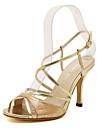 Zapatos de mujer - Tacon Stiletto - Tacones - Sandalias - Exterior / Vestido - Cuero Patentado - Plata / Oro