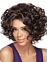 african american perruque sexy melange brun fonce courte perruque de cheveux boucles Livraison gratuite