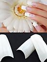 500 professionella vit koreanska standarder hälften väl falska akryl nagel konst tips (50pcsx10 storlekar blandat)