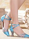 Chaussures de danse (Vert/Rouge/Or/Multicolore) - Non personnalisable - Talon aiguille - Satin/Synthetic - Moderne