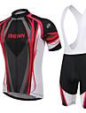 XINTOWN® Cykeltröja med Haklapp-shorts Dam Herr Unisex Kort ärm Cykel Andningsfunktion Bärbar Bakficka 3D TablettVadderade shorts
