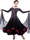 High-quality Spandex/Tulle with Rhinestones Performance Dresses for Ladies